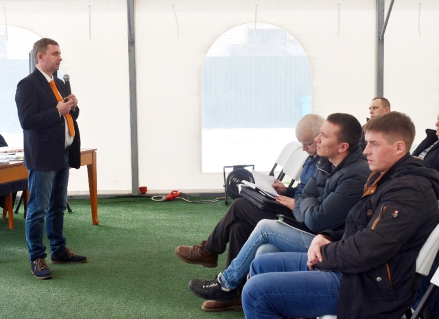 A SEMINAR WAS HELD BY AMAZONE FOR KALININGRAD FARMERS IN THE PREMISES OF THE AGRICULTURAL HOLDING COMPANY